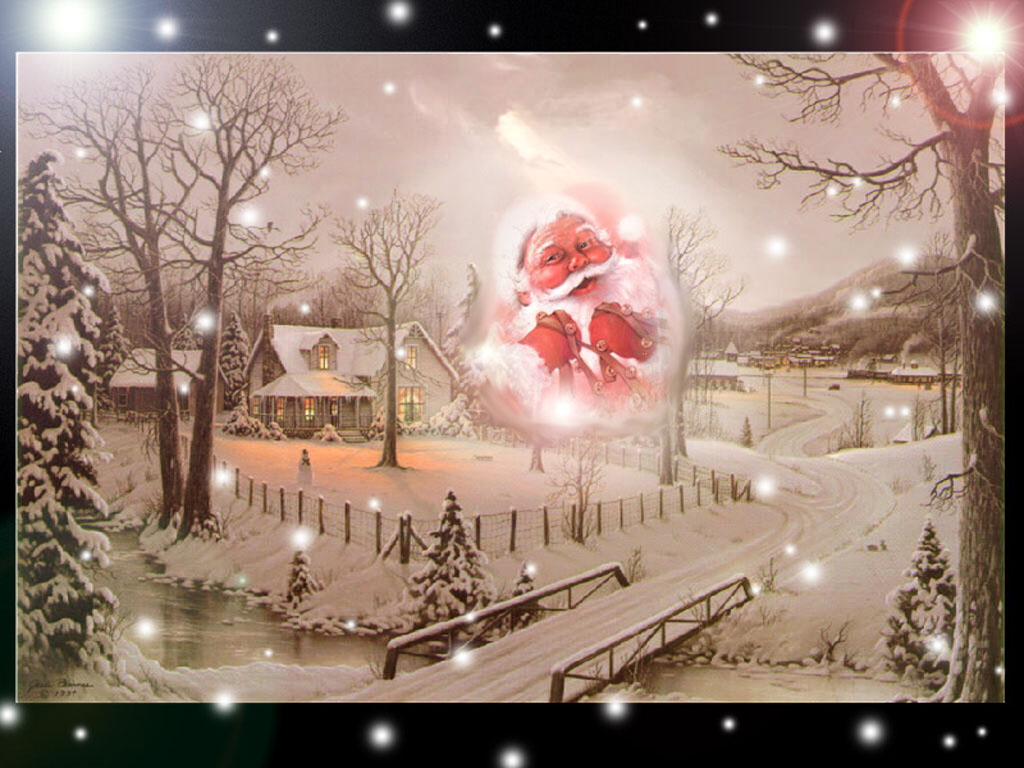 Buon Natale, 2006, Felice Natale, Regali, Babbo Natale, neve, freddo, 25 Dicembre, Presepe, Inverno, albero, palle, ghirlande, sfondi desktop, nataliz