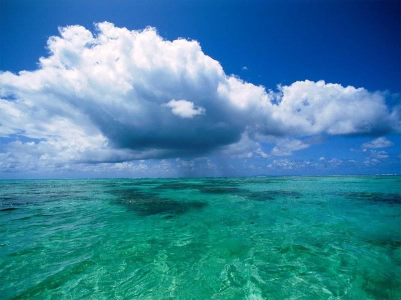immagini di cieli e mare, uno solo, orizzonte uniti, azzurro, nuvole, sfondi azzurri