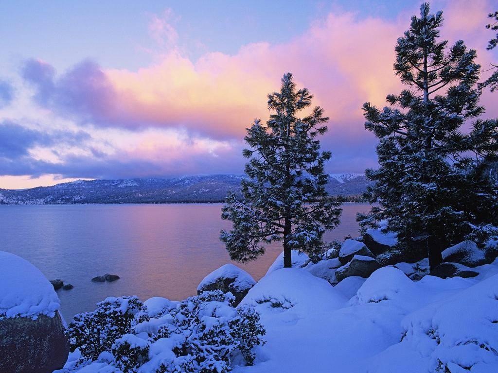 Crepuscolo, sole, rosa, tramonto