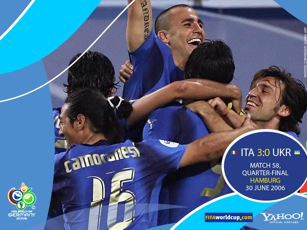 Gruppo E,Italia, Ucraina, quarti di finale, Zambrotta, Toni