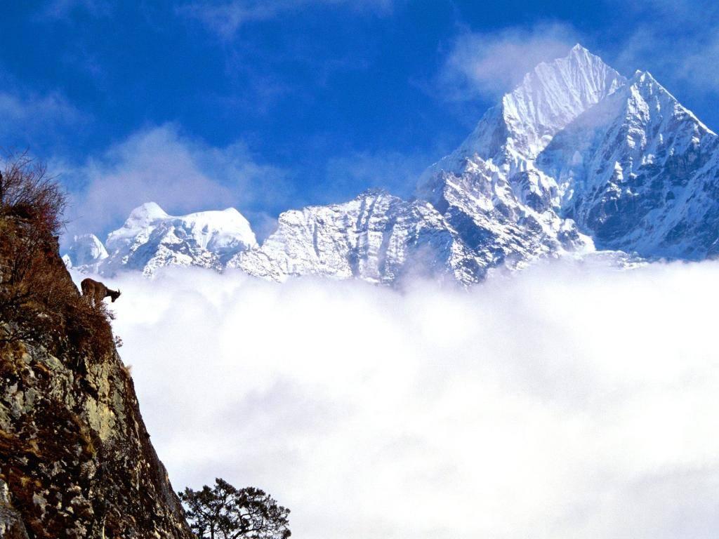 Nepal, montagne, nubi, altezza, k2, everest