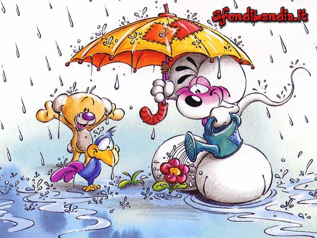 Diddl,Diddlina,fiori,annaffiare,pioggia,dolcezza
