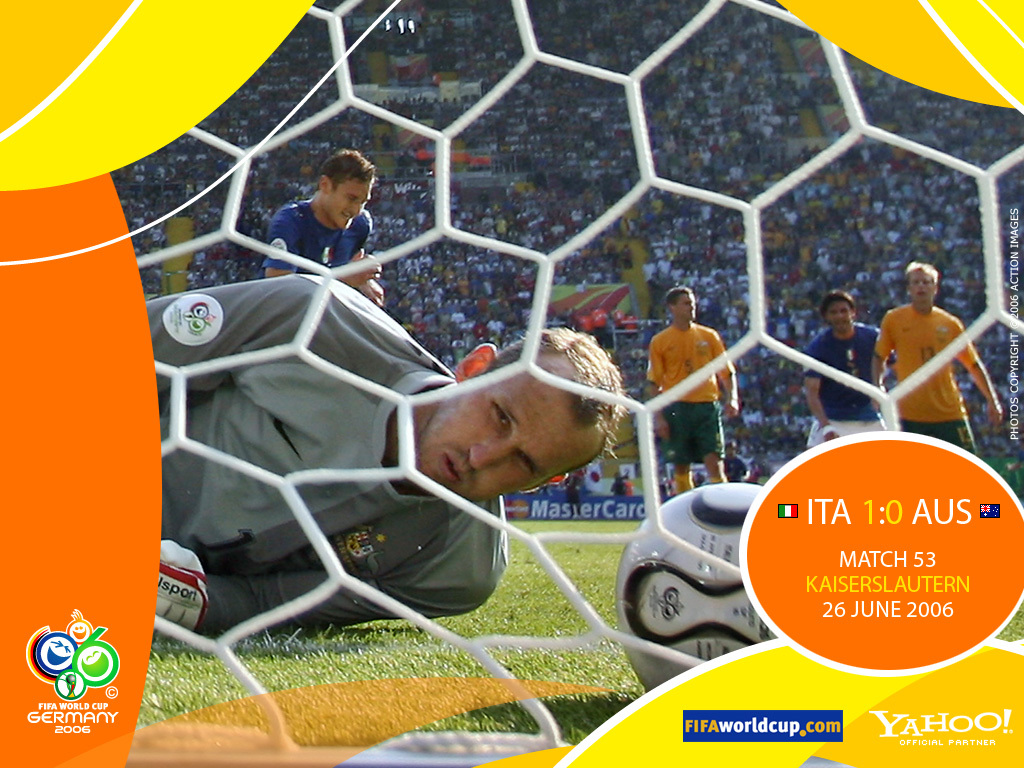 Germania 2006, Italia, Australia, rigore, Totti, Francesco